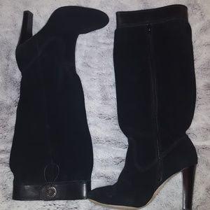 Michael Kors black slouch boots